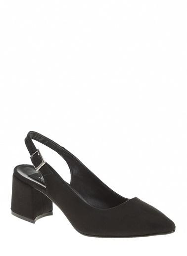 Derigo Siyah Süet Kadın Sandalet 39128 Siyah